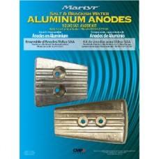 Kit Ânodos Alumínio Motores Volvo Penta TM - SX-A/DPS - Martyr
