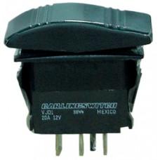 Interruptor Basculante Contura - Preto - 2 Terminais - Seachoice