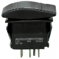 Interruptor Basculante Contura - Preto - 3 Terminais - Seachoice