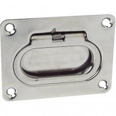 Puxador Aço Inox Retangular p/ Tampa Escotilha - Seachoice