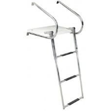 Escada e Plataforma de Banho em Aço Inox - 3 Degraus - Seachoice