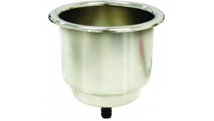 Suporte de Bebidas en Aço Inox - montagem com dreno - Seachoice