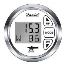 Indicador Digital de Profundidade, ar e temperatura da água - Chesapeake SS - Branco - Faria