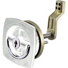 Fechadura Quadrada - Branco - Cilindro não ajustável - Perko