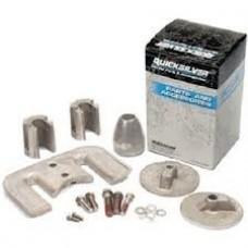 Kit de anodos em aluminio para coluna Mercruiser Bravo III